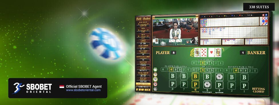 SBOBET Asia Casino Super Six Baccarat 338 Suite